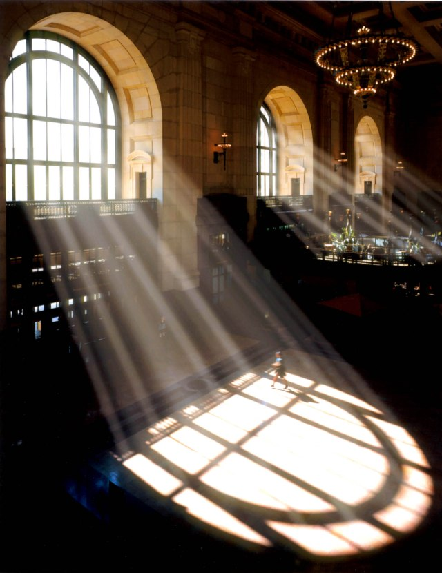 Window Light_Union Station light through arch top window