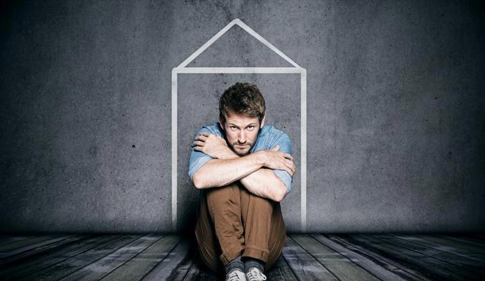 Claustrophobic Man Sitting