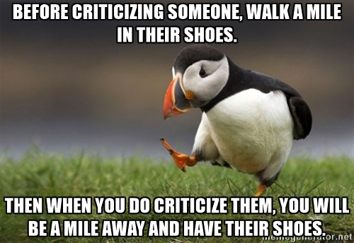 Walk a Mile Criticize