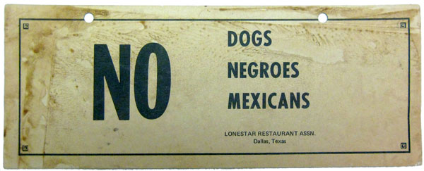 No Dogs Negroes
