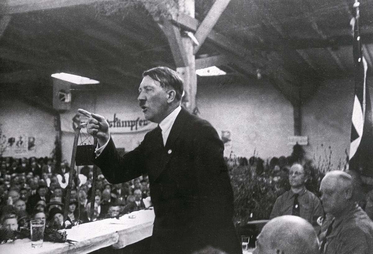 Adolf Hitler holding a speech