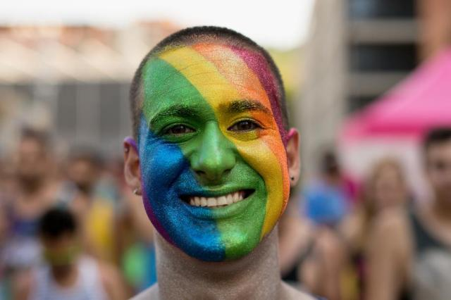 Pride parade portrait