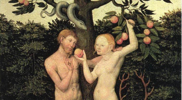 Adam and Eve with Apple